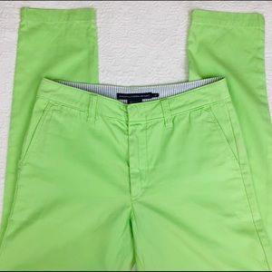 RALPH LAUREN SPORT Green Skinnies